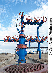 Wellhead. Concept oil and gas industry.