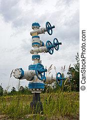 Wellhead. - Oil Well in Western Siberia. Russia.