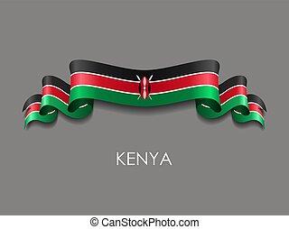 wellig, hintergrund., geschenkband, fahne, vektor, kenianer...