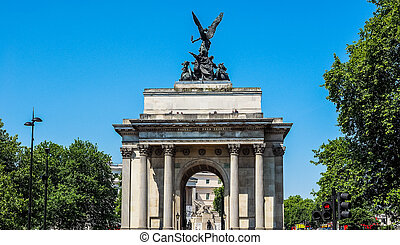 Wellington arch in London HDR