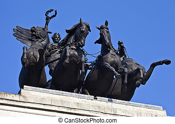 Wellington Arch Quadriga in London - The Quadriga that sits...