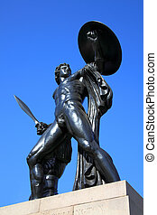 Wellington Memorial - The Victorian bronze Achilles statue...