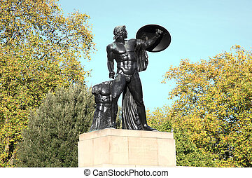Wellington Monument, Achilles - The Victorian bronze...