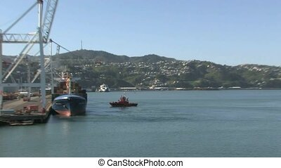 Wellington port facility.