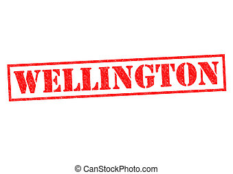WELLINGTON Rubber Stamp over a white background.