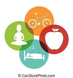 Wellnees lifestyle graphic design, vector illustration eps10