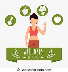 Wellnees lifestyle graphic