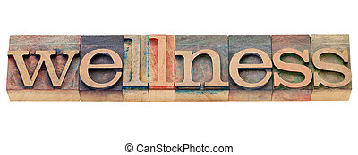 wellness, 単語, 中に, 凸版印刷, タイプ