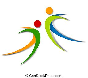 wellness, abstract, logo, ontwerp
