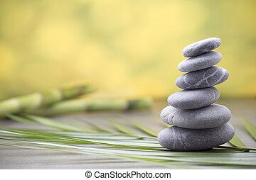 Wellness background. - Stones spa treatment scene, zen like...