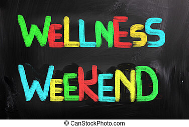 wellness, begrepp, helg