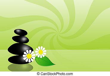 black stones for wellness