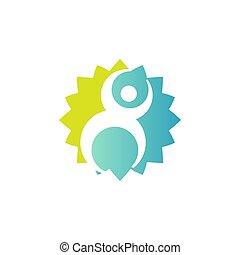 Wellness center logo design concept. Spa and massage symbol template.