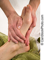 wellness composition - foot sole massage - a wellness...