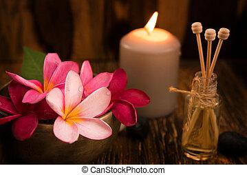 wellness, conceito, spa