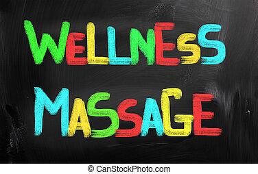 wellness, concetto, massaggio