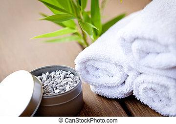 wellness, e, spa, tratamento beleza, este prego