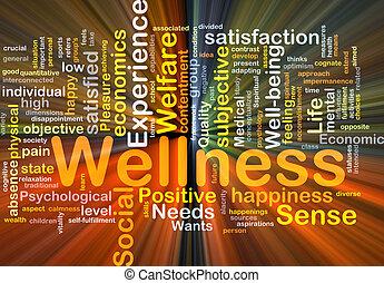 wellness, fundo, conceito, glowing
