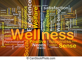 wellness, gloeiend, concept, achtergrond