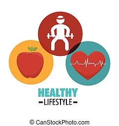 Wellness healthy lifestyle icons