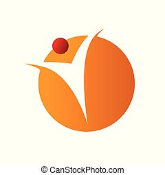 Wellness Human Figure Abstract Symbol