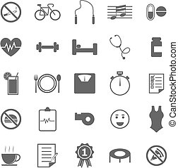 Wellness icons on white background