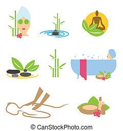 wellness, ikonok, ásványvízforrás, masszázs