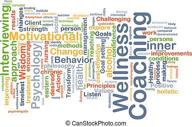 wellness, istruire, fondo, concetto