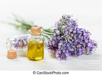 wellness, kurer, med, lavendel, flowers.
