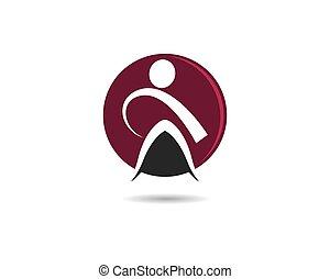 wellness, logo, gabarit