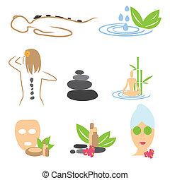wellness, masszázs, gyűjtés, ásványvízforrás, ikonok