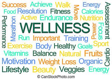 wellness, mot, nuage