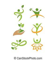 Wellness nature logo icon design template vector illustration