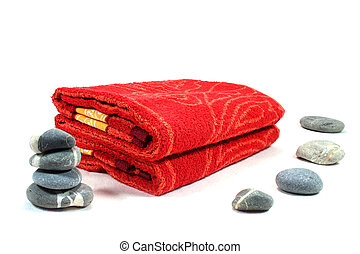 Wellness - Personal Care - Wellness - pebbles and towels - ...