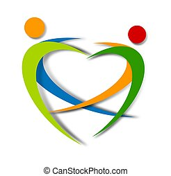 wellness, projeto abstrato, logotipo