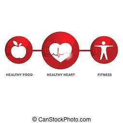 wellness, símbolo, médico