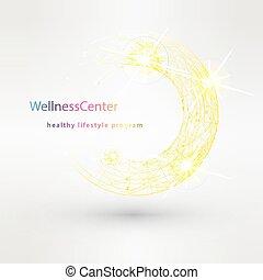 Wellness salon logo design vector template.