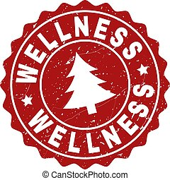 WELLNESS Scratched Stamp Seal with Fir-Tree