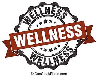 wellness, skylt., stamp., försegla