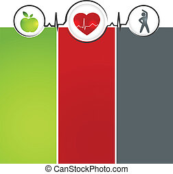 Wellness template - Wellness and healthy heart symbol...