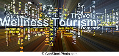 Wellness tourism background concept glowing - Background...