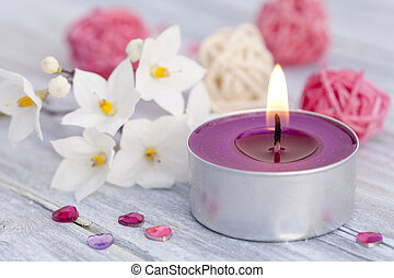 Wellness with candle light