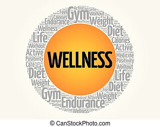 WELLNESS word cloud collage