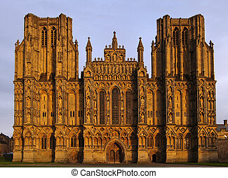 Wells Cathedral in Somerset England front shot