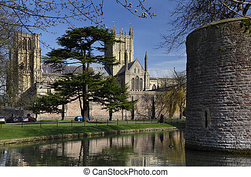 Wells Cathedral - Wells - England - Wells Cathedral viewed...
