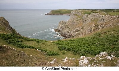Welsh Coast Mewslade Bay The Gower