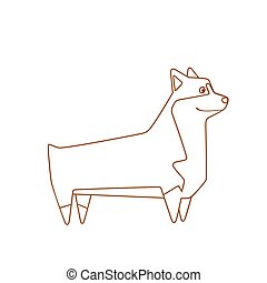 Welsh Corgi breed dog. Vector illustration