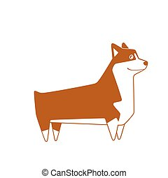 Welsh Corgi breed dog. Vector illustration