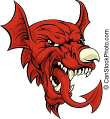 Welsh Dragon - An illustration of the Welsh national symbol...