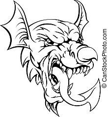 Welsh Dragon - The Welsh red dragon Y Ddraig Goch, the...